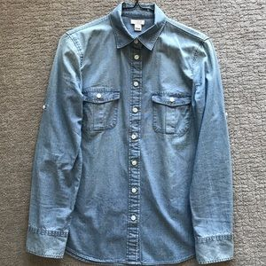 J. Crew Chambray Button Down Shirt